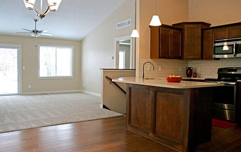 3814 Marigold Drive - Townhome for Rent - kitchen and living room