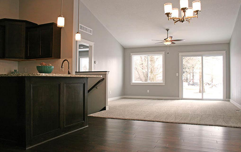 3818 Marigold Drive - Townhome for rent - kitchen, dining and living room - open concept