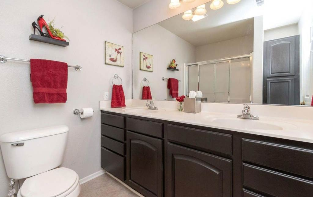 3838 Marigold - Rental Home - bathroom with double sink