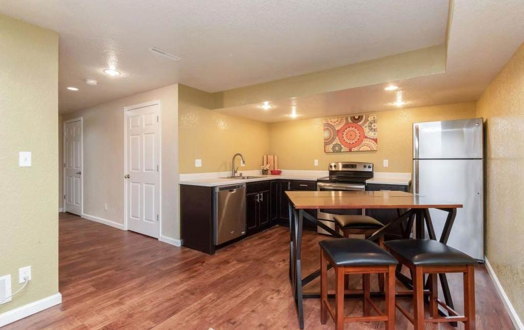 3838 Marigold - Rental Home - kitchen and living space in basement