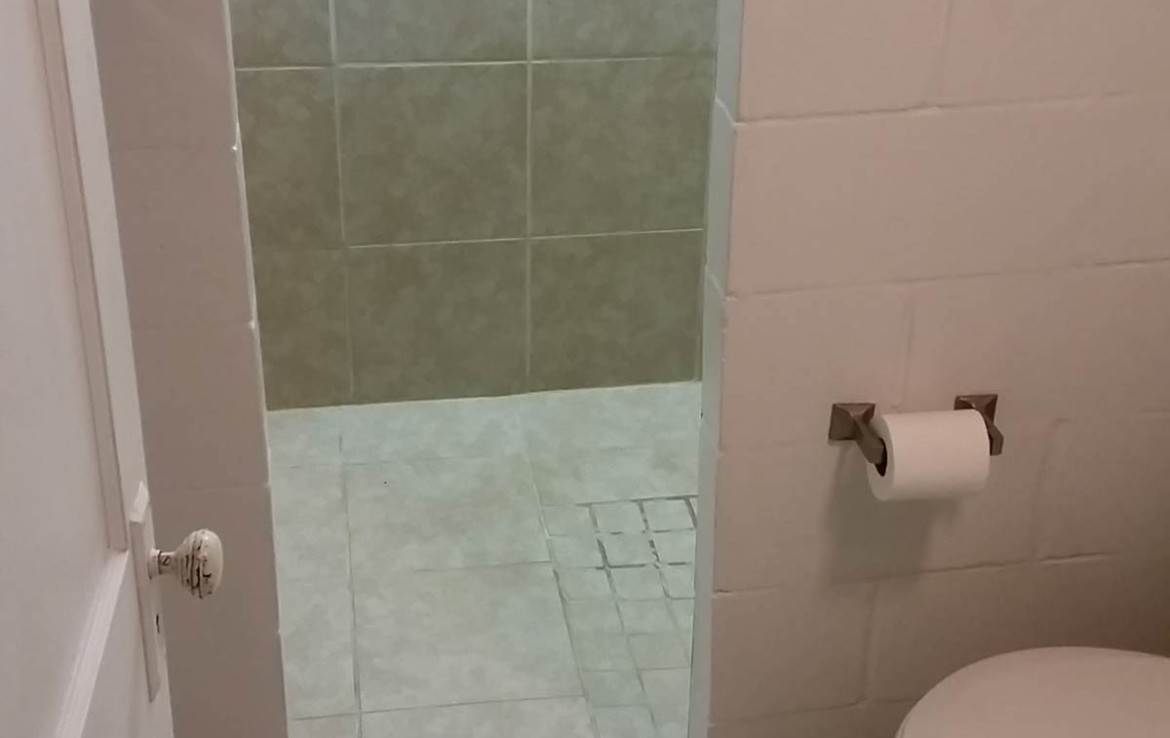 3107 Lincoln Way - bathroom and walk in shower in finished basement