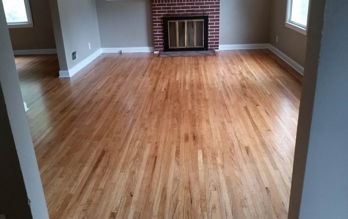 3107 Lincoln Way - living room with hardwood floors and fireplace